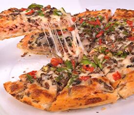 پیتزا قارچ و گوشت بزرگ